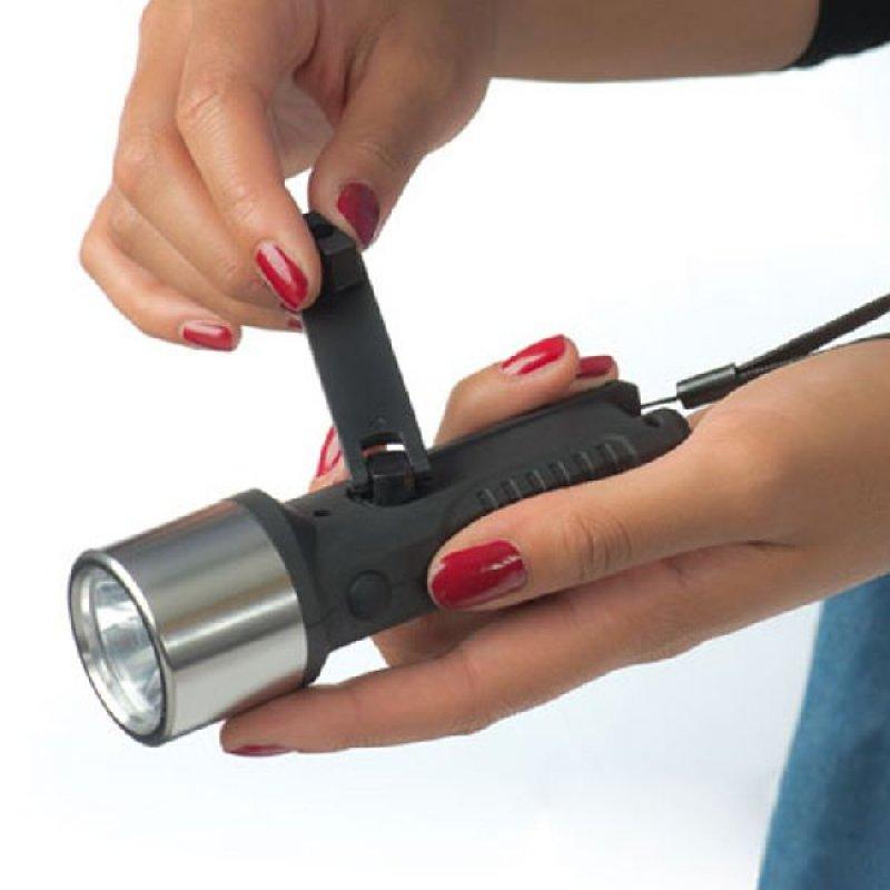 taschenlampe mit dynamo bedrucken besticken prombo werbemittel. Black Bedroom Furniture Sets. Home Design Ideas