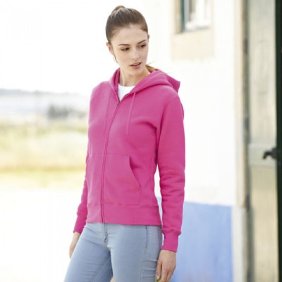Damen Hooded Sweatjacke