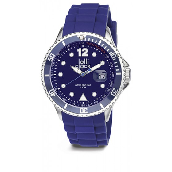 Armbanduhr LOLLICLOCK CHROME DATE BLUE