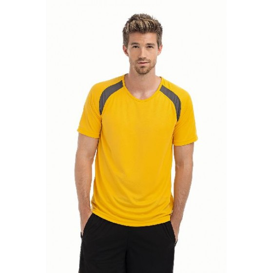 Tagless® Crew Neck T Contrast Sports