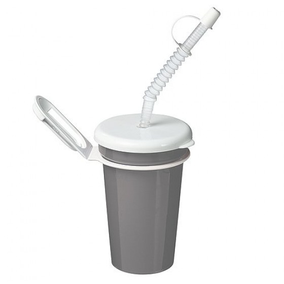 Trinkbecher Take Away 0,4 l, silber