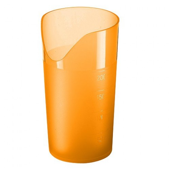 Trinkbecher Ergonomie, trend-orange
