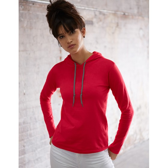 Women´s Fashion Basic Long Sleeve Hooded Tee