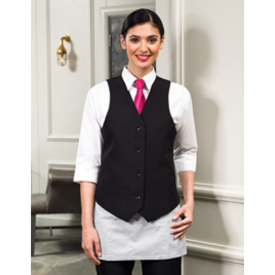 Ladies Lined Polyester Waistcoat