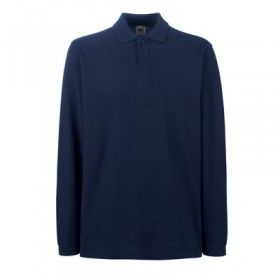 Langarm-Poloshirt FRUIT OF THE LOOM